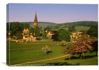 Edensor village, Chatsworth Park, Canvas Print