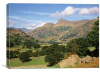 Great Langdale and Langdale Pikes, Canvas Print