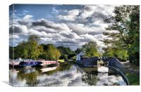Kingswood Junction, Stratford-upon-Avon Canal, Canvas Print