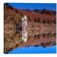 Fairtytale castle reflection, Canvas Print