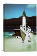 Propriano Lighthouse Sicily, Canvas Print