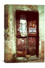 Rustic Door Sicily, Canvas Print