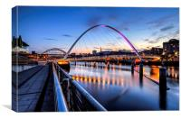 Evening on the Quayside, Canvas Print