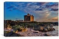 Portencross castle. Ayrshire, Canvas Print