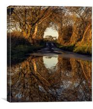 autumn reflections in the country side, Canvas Print