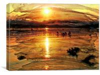 Sunset on Windermere, Canvas Print