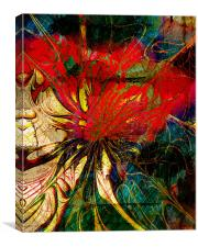 Red Nasturtium, Canvas Print