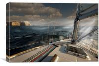 Cape St Vincent Storm, Canvas Print