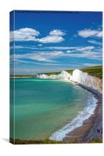 Seven Sisters, Sussex, Canvas Print