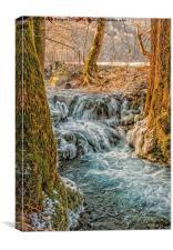 Winter Iceflow, Canvas Print