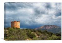 Torre d`Andritxol, Majorca, Canvas Print