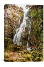 Burgbach Waterfall, Black Forest, Germany 3, Canvas Print