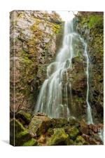 Burgbach Waterfall, Black Forest, Germany 5, Canvas Print