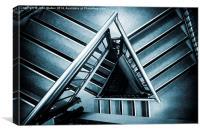 Triangular Steps, Canvas Print