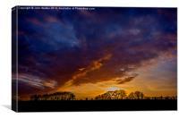 Kentish Winter Sunset, Canvas Print