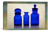 Blue Glass, Canvas Print