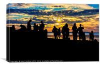 The Beach Party , Canvas Print