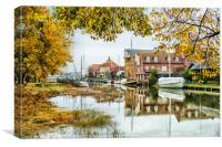 Faversham Creek in autumn, Canvas Print