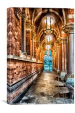 The Entrance to St Pancras Station, Canvas Print