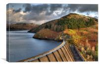 Sunrise over Llyn Clywedog reservoir, Canvas Print