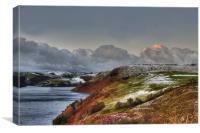 Sunrise over Llyn Clywedog Reservoir 2, Canvas Print