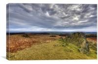 Looking over Bradgate Park, Canvas Print