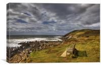 The Bench on Baggy Point, Canvas Print
