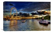 Electric Millennium Wheel London, Canvas Print