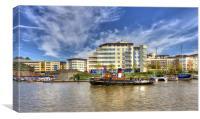 Bristol Docks, Canvas Print