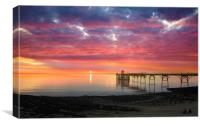 Clevedon Pier Sunset, Canvas Print