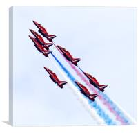 Seven Reds Going Up, Canvas Print