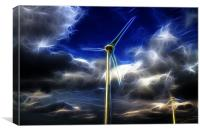 Electric Turbines, Canvas Print
