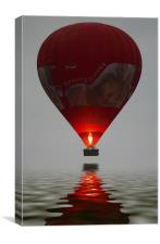 Red Balloon reflection, Canvas Print