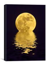 Melting Golden Moon, Canvas Print