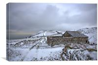 Snow Covered Barn on Exmoor, Canvas Print