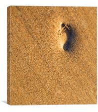 Footprint in the Sand, Canvas Print