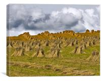 Sheaves of Straw, Canvas Print