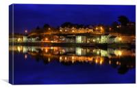 Bideford Nights, Canvas Print