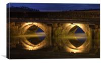 Bideford Long Bridge, Close Up, Canvas Print