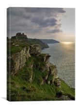 Sunset over Valley of the Rocks, Canvas Print