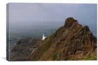 Hartland Point Lighthouse, Canvas Print