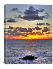 Hartland Sunset, Canvas Print