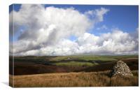 Memorial cairn on Exmoor, Canvas Print