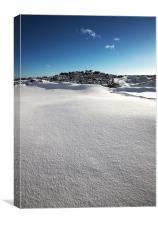 Snow Covered Exmoor, Canvas Print