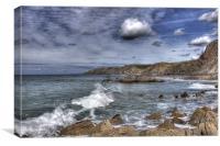 Sandymouth Beach From Menachurch Point, Canvas Print