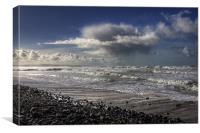 Great Waves at Sandymouth Cornwall, Canvas Print