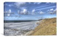 More Big Waves At Sandymouth  Cornwall, Canvas Print