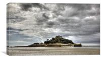 St Michael's Mount Cornwall (Pano), Canvas Print