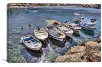 Lindos Boats, Canvas Print