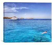 Snorkeling at Lindos Rhodes, Canvas Print